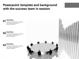 Powerpoint Template And Background With The Success Team In Session