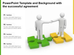 Powerpoint Template And Background With The Successful Agreement