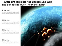 Powerpoint Template And Background With The Sun Rising Over The Planet Earth