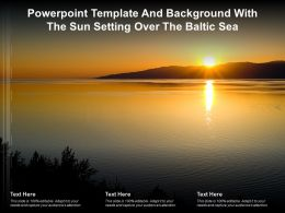 Powerpoint Template And Background With The Sun Setting Over The Baltic Sea