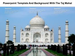 Powerpoint Template And Background With The Taj Mahal