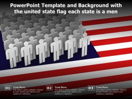 Powerpoint Template And Background With The United State Flag Each State Is A Men