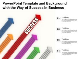 Powerpoint Template And Background With The Way Of Success In Business