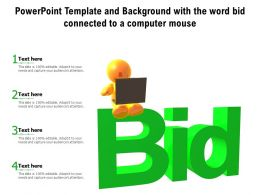 Powerpoint Template And Background With The Word Bid Connected To A Computer Mouse