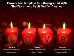Powerpoint Template And Background With The Word Love Spelt Out On Candles
