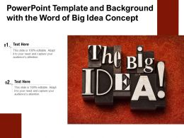 Powerpoint Template And Background With The Word Of Big Idea Concept