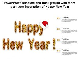 Powerpoint Template And Background With There Is An Tiger Inscription Of Happy New Year