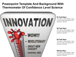 Powerpoint Template And Background With Thermometer Of Confidence Level Science