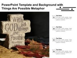 Powerpoint Template And Background With Things Are Possible Metaphor