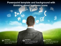 Powerpoint Template And Background With Thinking About Business Icons