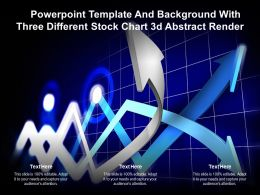 Powerpoint Template And Background With Three Different Stock Chart 3d Abstract Render