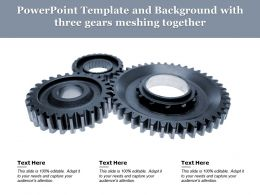 Powerpoint Template And Background With Three Gears Meshing Together