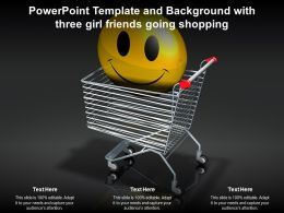 Powerpoint Template And Background With Three Girl Friends Going Shopping