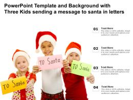 Powerpoint Template And Background With Three Kids Sending A Message To Santa In Letters