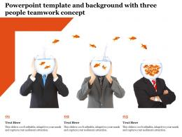 Powerpoint Template And Background With Three People Teamwork Concept