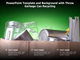 Powerpoint Template And Background With Throw Garbage Can Recycling