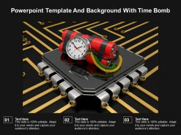 Powerpoint Template And Background With Time Bomb
