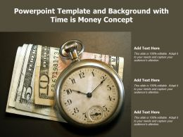 Powerpoint Template And Background With Time Is Money Concept