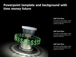 Powerpoint Template And Background With Time Money Future
