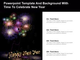 Powerpoint Template And Background With Time To Celebrate New Year
