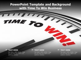 Powerpoint Template And Background With Time To Win Business