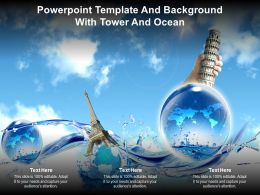 Powerpoint Template And Background With Tower And Ocean