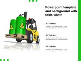 Powerpoint Template And Background With Toxic Waste