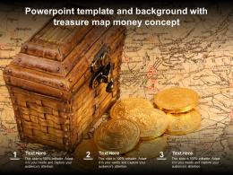 Powerpoint Template And Background With Treasure Map Money Concept