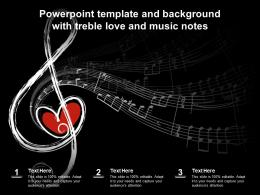 Powerpoint Template And Background With Treble Love And Music Notes