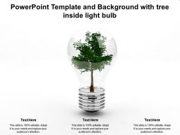 Powerpoint Template And Background With Tree Inside Light Bulb