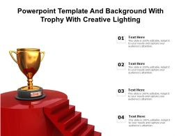 Powerpoint Template And Background With Trophy With Creative Lighting