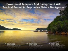 Powerpoint Template And Background With Tropical Sunset At Seychelles Nature Background