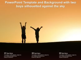 Powerpoint Template And Background With Two Boys Silhouetted Against The Sky