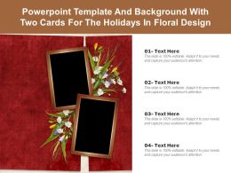 Powerpoint Template And Background With Two Cards For The Holidays In Floral Design