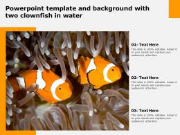 Powerpoint Template And Background With Two Clownfish In Water