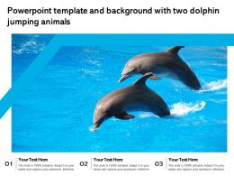 Powerpoint Template And Background With Two Dolphin Jumping Animals
