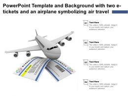 Powerpoint Template And Background With Two E Tickets And An Airplane Symbolizing Air Travel