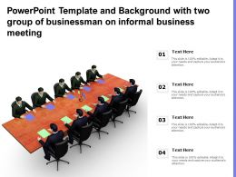 Powerpoint Template And Background With Two Group Of Businessman On Informal Business Meeting