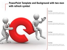Powerpoint Template And Background With Two Men With Refresh Symbol