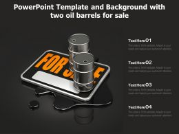 Powerpoint Template And Background With Two Oil Barrels For Sale