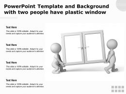 Powerpoint Template And Background With Two People Have Plastic Window