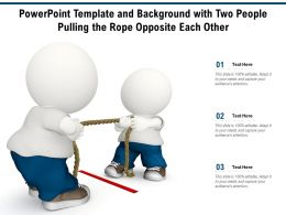 Powerpoint Template And Background With Two People Pulling The Rope Opposite Each Other