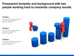 Powerpoint Template And Background With Two People Working Hard To Maximize Company Results