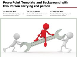Powerpoint Template And Background With Two Person Carrying Red Person