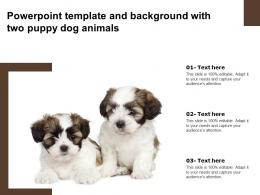 Powerpoint Template And Background With Two Puppy Dog Animals