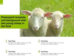 Powerpoint Template And Background With Two Young Sheep In The Field