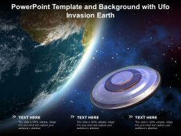 Powerpoint Template And Background With Ufo Invasion Earth
