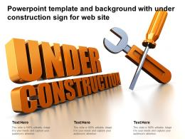 Powerpoint Template And Background With Under Construction Sign For Web Site