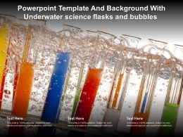 Powerpoint Template And Background With Underwater Science Flasks And Bubbles