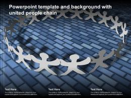 Powerpoint Template And Background With United People Chain